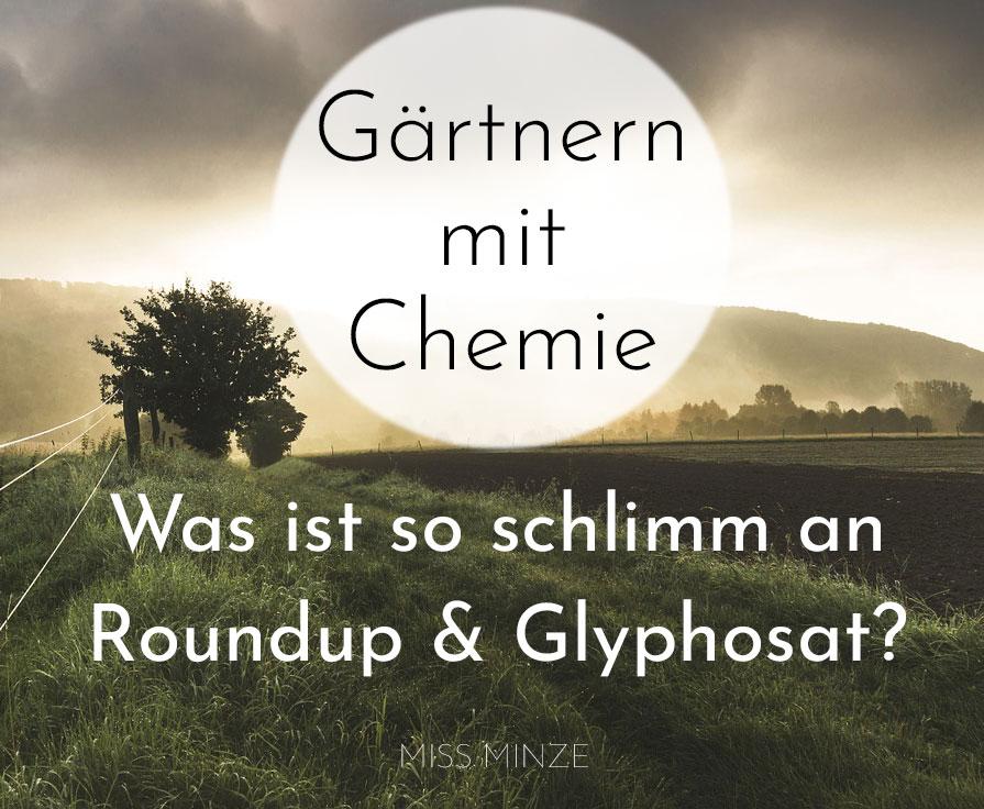 Roundup für Hobbygärtner: Was ist so schlimm an Glyphosat? Und: Hat es auch Vorteile?
